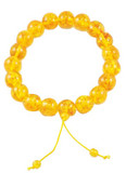 Light Colored Synthetic Amber 20 mm Mala
