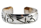 Mantra White Metal Ring, Om Mani Padme Hum Ring