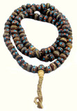 Medicine Mala made from Yak Bone, Coral, and Turquoise Prayer Beads Mala on Hemp