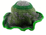 Gray and Green Hemp Hat