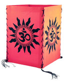 Om Symbol in Sun Cotton Lantern in Red, Teal, Lime Green, Blue, Green, or Yellow