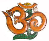 Sanskrit Om Symbol Wood Carving
