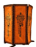 Orange Prayer Wheel Lokta Paper Lantern