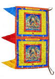 Padmasambhava Satin Vertical Prayer Flag