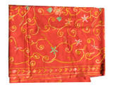 Pashmina Scarf, Handmade in Nepal, Beautiful Embroidery, Red