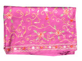 Pashmina Scarf, Magenta, Embroidered by Hand in Nepal