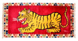 Red Crouching Tiger Meditation Rug