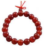 Red Jade Prayer Beads Wrist Mala