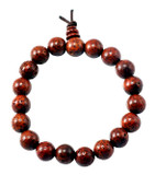 Red Lotus Seeds Wrist Mala, 9 mm