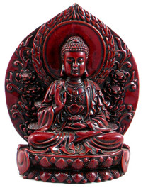 Buddha Statue, made from Red Resin