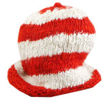 Red Striped Hemp Hat