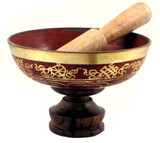 "5.5"" Red Tibetan Singing Bowl"