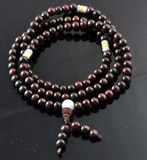 Rosewood and Jade Mala, 108 Beads
