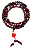 Rosewood and Turquoise Mala