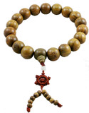 Sandalwood Buddha 20 mm Prayer Beads