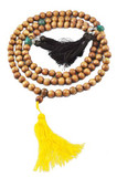 Sandalwood Three Tassel Dorje Mala
