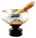 Silver 4 Inch Singing Bowl