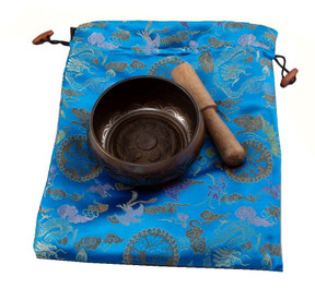 Singing Bowl Gift Set with Blue Bag