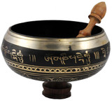 Tibetan Buddhist Singing Bowl with Buddhist mantra