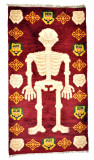 Skeleton Meditation Rug