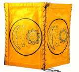 Sun and Moon Orange Paper Lantern