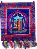 Buddhist Prayer Flag with the Kalachakra Mantra Symbol