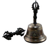 Om Mani Padme Hum Bell and Dorje Set