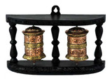 Tibetan Buddhist Copper and Brass Double Prayer Wheel