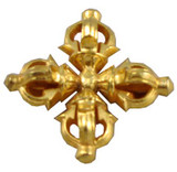 Tibetan Buddhist Gold-Plated Double Dorje Pendant