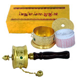 Tibetan Buddhist Gold-Plated Prayer Wheel Box Set