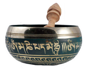 Green Five Inch Singing Bowl