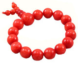 Tibetan Buddhist Red Jade Prayer Beads Wrist Mala Bracelet