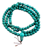 Tibetan Buddhist Turquoise Mala Prayer Beads