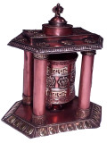 Tibetan Copper Handmade Prayer Wheel