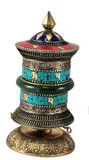 Tibetan Copper Turquoise Prayer Wheel- out of stock