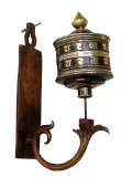 Tibetan Copper Wall Mounted Prayer Wheel