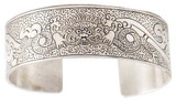 Tibetan Dragon Bracelet, Handmade in Nepal from White Metal (Plated Silver)