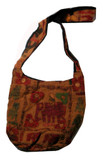 Tibetan Elephant Handmade Shoulder Bag Purse- Large!