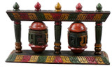 Tibetan Handmade Two Wheel Standing Prayer Wheel