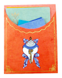 Tibetan Lokta Paper Conch Shell Stationery Set