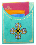 Tibetan Lokta Paper Stationery Set- Double Dorje