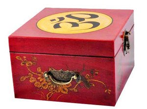 Tibetan Singing Bowl Gift Set in a Leather Box