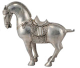 Horse Statue, Handmade from Silver in Nepal