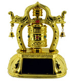 Tibetan Solar Prayer Wheel- with Elephant Design