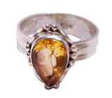 Tibetan Sterling Silver, .925 and Citrine Ring