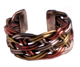 Tibetan Three Colors Spiral Ring
