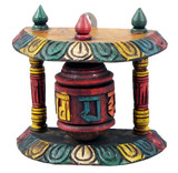Tibetan Wall Mounted Wooden Prayer Wheel