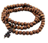 Tibetan Wooden Buddha Prayer Beads