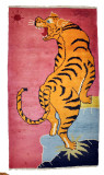 Tiger Climbing Wool Meditation Rug