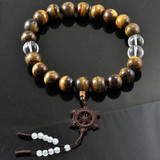 Tiger Eye and Crystal Large Mala